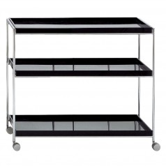 Kartell Trays Trolley (Glossy White & Black Finishes)