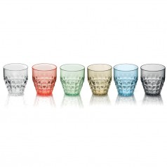 Guzzini Tiffany Low Plastic Tumbler (350ml) - Set of 6 different colours