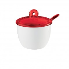 Guzzini Gocce Sugar Bowl with Teaspoon