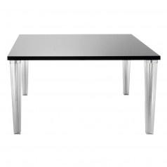 Kartell TopTop Dining Table Lacquered top & 4 clear pleated legs