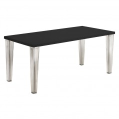 Kartell TopTop Dining Table (Glass Top) (4 clear pleated legs)