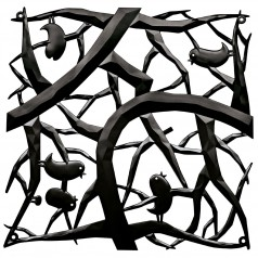 Koziol Room Divider [pi:p] (Branches & Birds) (Set of 4)