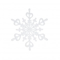 Koziol Decorative Small Hanging Snowflakes (Set of 4) (15x13cm)