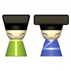 A di Alessi King & Queen Chin Magnets (Set of 2)