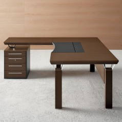 Mascagni Quadra Desk with Extension Top and Drawers