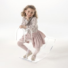 Kartell H-Horse Transparent Rocking Chair for Kids