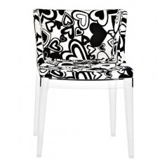 Kartell Mademoiselle Moschino Black Hearts Chair
