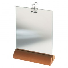 Alessi Portrait Photo Frame in Pear Wood