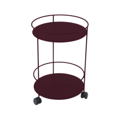 Fermob Guéridons Wheeled Side Table (Solid Double Top)