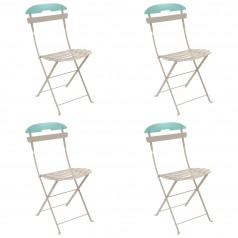 Fermob La Mome Two-Tone Chair (Set of 4)