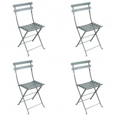 Fermob Bistro Folding Metal Chair Set of 4
