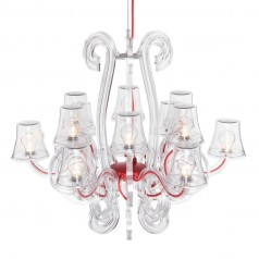 Fatboy RockCoco 12.0 Chandelier (12 lamps) - Transparent