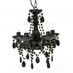 Present Time Gypsy Small Black Chandelier Lamp