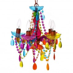Present Time Gypsy Small Multicolour Chandelier Lamp