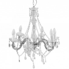 Present Time Gypsy Clear Chandelier Lamp