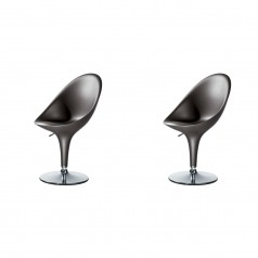 Magis Bombo Height Adjustable Chairs - Set of 2 (Grey Anthracite)