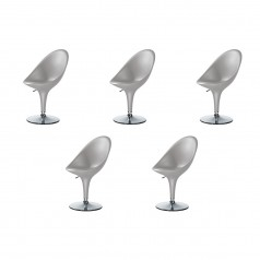 Magis Bombo Height Adjustable Chairs - Set of 5 (Silver Grey)