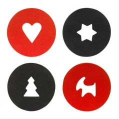 Sagaform Christmas/Valentines Coasters 4 Pack