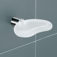 Gedy Aura Soap Dish Holder - Frosted Glass