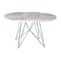Magis XZ3 Round Table - Carrara Marble Top