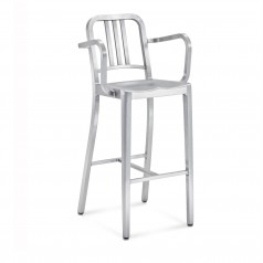 Emeco 1006 Navy Barstool With Arms