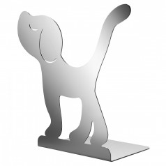 A di Alessi Montparnasse (Dog) Bookend (Mirror Polished Steel)