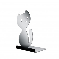 A di Alessi Vigo (Cat) Bookend (Mirror Polished Finish)