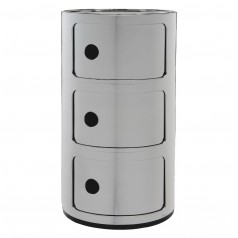 Kartell Componibili 3 Tier Storage Unit (Silver)