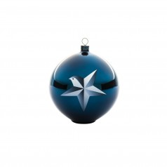 A di Alessi Blue Christmas Bauble - Star
