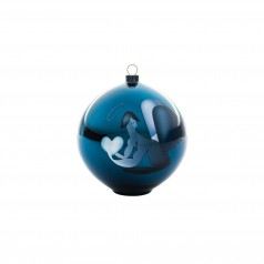 A di Alessi Blue Christmas Bauble - Angel