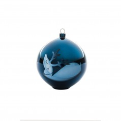 A di Alessi Blue Christmas Bauble - Reindeer