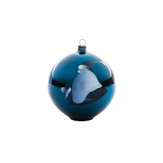 A di Alessi Blue Christmas Bauble - Santa Claus