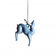 A di Alessi Blue Christmas Ornament - Reindeer