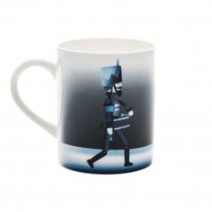 A di Alessi Blue Christmas Mug - Soldier & Dancer