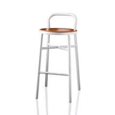 Magis Pipe Bar Stool (Beech Seat) (Indoor Use)