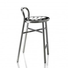 Magis Pipe Polished Aluminium Bar Stool