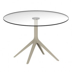 Vondom Mari-Sol Dining Table (Fixed Glass Top)
