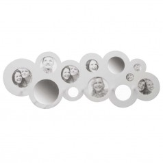 Present Time Circles Hat Rack With Mirrors & Photo Frames