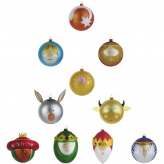 Alessi Palle Presepe set of 10 christmas baubles