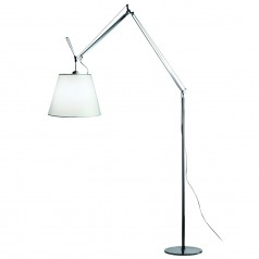 Artemide Tolomeo Mega Terra polished aluminium floor light
