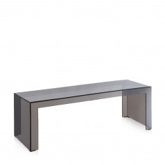 Kartell Invisible Side coffee table; long, 40cm high