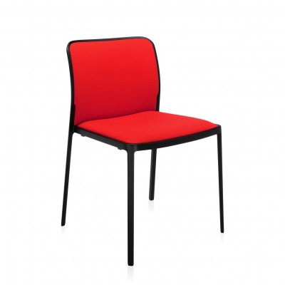 Kartell Audrey Soft Dining Chair: Black Frame, Trevira