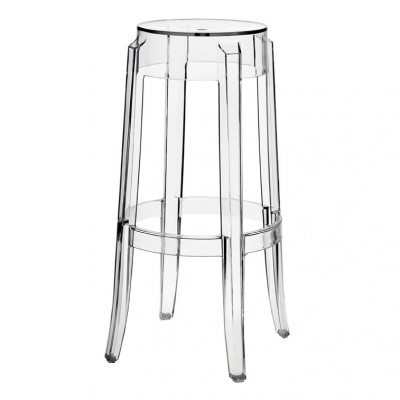 Kartell Charles Ghost High 75cm Bar Stool by Philippe Starck
