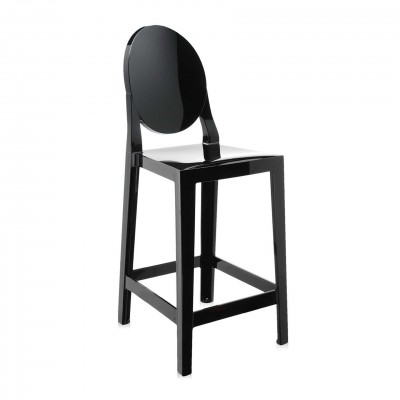 Kartell One More Barstool Rounded / Oval Back (65cm) by Philippe Starck