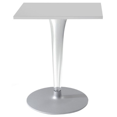 Kartell TopTop outdoor table square top round base