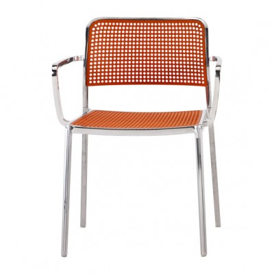 Kartell Audrey Shiny mesh dining armchair