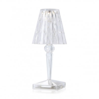Kartell Battery Table Lamp - 100% Rechargeable Transparent Light