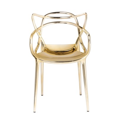 Kartell Masters Chair Special Metallic Versions Gold
