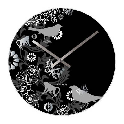 Present Time Black Magic Forrest Clock