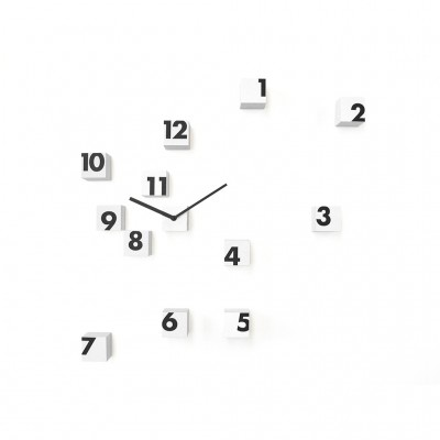 Progetti RND_Time Wall Clock - With Small Cubes in Nylon